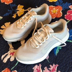 White and Gray Nike Shoes—New